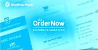 Responsive ordernow order plugin wordpress form