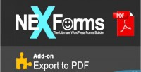 To export pdf forms nex for