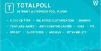Wordpess totalpoll plugin