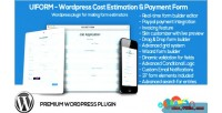 Wordpress uiform cost forms payment estimation