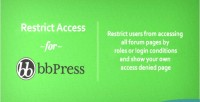 Access bbpress access forum limit
