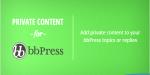 Private bbpress plugin wordpress content