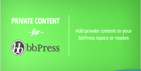 Private bbpress plugin wordpress content