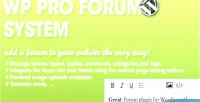 Pro wp forum system