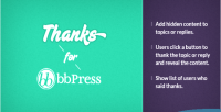 Thanks bbpress wordpress plugin