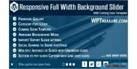 Full responsive slider background width