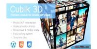3d cube gallery module plugin gmedia for 3d