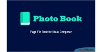 Book page flip book composer visual for book