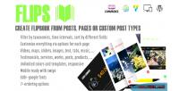 Create flipbook from post plugin wp types create