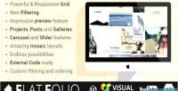 Flat flatfolio cool portfolio wp composer visual for