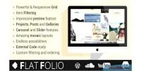 Flat flatfolio portfolio wp cool