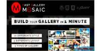 Gallery fast plugin wordpress mosaic