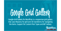 Grid google wordpress for gallery