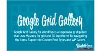 Grid google wordpress for gallery