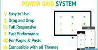 Grid power responsive wordpress grid for system