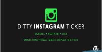 Instagram ditty ticker