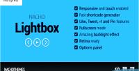 Lightbox nacho for wordpress