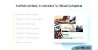 Minimal portfolio composer visual for