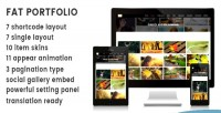 Portfolio fat advance wordpress for portfolio