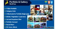 Portfolio & gallery grid layout with wordpress for carousel
