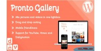 Pronto gallery sortable responsive image & video lightbox wordpres for gallery