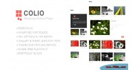 Responsive colio plugin wordpress portfolio