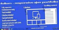 Responsive folium ajax portfolio