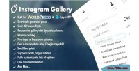 Responsive wordpress instagram gallery