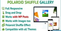 Shuffle polaroid responsive image wordpress gallery posts and