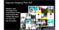 Swapping responsive photo wall