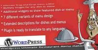 Ultimate wordpress maker menu restaurant