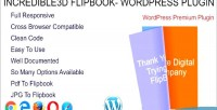 Wordpress incredible3d flipbook plugin