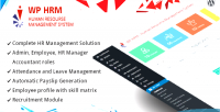 Human wphrm resource wordpress management for system