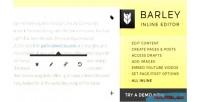 Inline barley editing wordpress for plugin