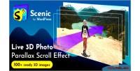 3d scenic photo wordpress parallax 2 v1 plugin