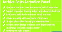 Posts archive pro panel accordion