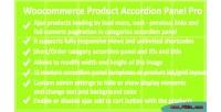 Product woocommerce pro panel accordion