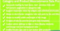 And category product pro tabs woocommerce