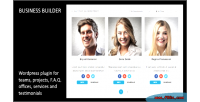 Builder business wordpress plugin team for projects service testimonials offices