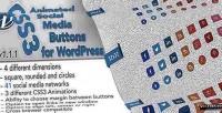 Animated css3 social widget wordpress buttons
