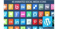 Animated svg social media wordpress for icons animated