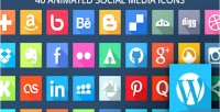 Animated svg social media wordpress for icons animated