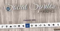 Sprites social icons widget