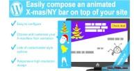 Christmas amp new year animation bar wordpress for plugin christmas