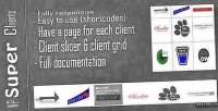 Client responsive slider & grid