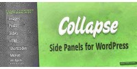 Collapsible collapse sliding wordpress for panel