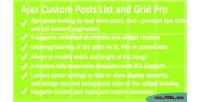 Custom ajax posts pro list grid and