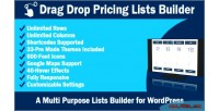 Drag drop pricing lists wordpress for builder