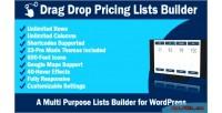 Drag drop pricing lists wordpress for builder