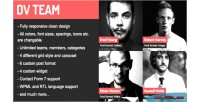 Dv team responsive team plugin wordpress showcase
